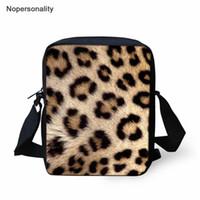 sacos de escola do leopardo das meninas venda por atacado-Nopersonality Crianças Mini Sacos De Escola 3D Leopard Messenger Bags para Adolescente Meninas Ombro Do Bebê Do Jardim de Infância Pequeno Saco de Livro