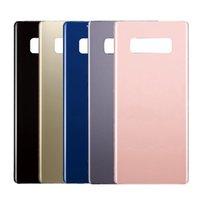 notiz zurück logo großhandel-OME für Samsung Galaxy Note8 Note 8 Rückseite Batterieabdeckung Hintere Türglasgehäuse + Aufkleber + Doppel-LOGO