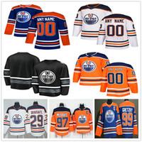 Wholesale connor mcdavid youth for sale - Group buy Custom Edmonton Oilers Adam Larsson McDavid Leon Draisaitl Milan Lucic Jesse Puljujarvi Men Women Kids Youth Hockey Jerseys