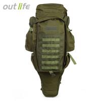 ingrosso il sacchetto pack pack campeggio esterno-Outlife 60L Outdoor Backpack Military Tactical Bag Pack Zaino per la caccia di tiro Camping Trekking Escursioni Viaggiare