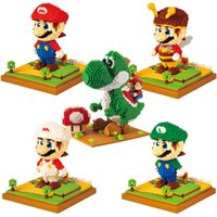 Wholesale mario blocks for sale - Group buy Super hot diamond pellet Mario princess castle fire dragon plastic splicing small pellet blocks as children s toys