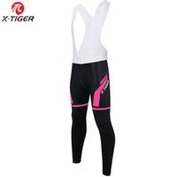 collants thermiques pour femme achat en gros de-X-Tiger femmes garder au chaud Thermal VTT Vélo Pantalons bavoir 3D Pads Gel de vélo de montagne Collants Pantalons Cyclisme bavoir