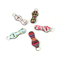 Wholesale customized key chains resale online - Customized Full Printing Neoprene Chapstick Cover Holder mm White Blank Chapstick Sleeves Multifunction Key Chains