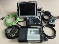 mercedes laptop venda por atacado-2019.05V MB Estrela SD C5 com Laptop CF-19 Toughbook touch screen 4G pronto para trabalhar para Mercedes ferramenta de diagnóstico estrela c5