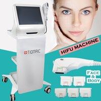mejores removedores de arrugas al por mayor-La mejor máquina de belleza hifu hifu lifting facial dispositivo de eliminación de arrugas por ultrasonido portátil HIFU equipo de estiramiento facial