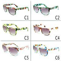 gafas deportivas para niñas al por mayor-Niños retro gafas de sol de camuflaje Oculos Niños Niñas Gafas Niños Deportes Gafas Gafas UV400 6 colores MMA2060
