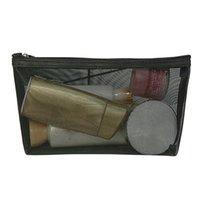 bolsas de maquillaje transparente al por mayor-Bolsa de maquillaje de malla de lavado cosmético portátil de viaje de almacenamiento de cremallera organizador de artículos de tocador bolsa transparente