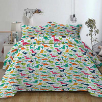 Wholesale bedding duvet children for sale - Group buy Dinosaur Bedding Set For Children Cartoon Cute Creative Duvet Cover Queen King Single Double Full Twin Soft Bed Cover with Pillowcase