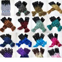Wholesale ombre xpression braiding hair for sale - Group buy H Kanekalon Synthetic Braiding Hair inch100g Ombre Two Tone Color Xpression Jumbo braids Twist Synthetic Hair Extensions colors
