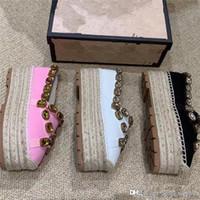 Wholesale sandals gems resale online - Sandal designer shoes vintage women shoes Espadrilles luxury golden sandale sandals diseñador slipper luxe triple gem ribbon size35