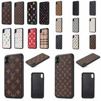 huawei artan dostum deri kılıf kapağı toptan satış-Moda Tasarımcısı telefon kılıfı için IPHONE X XS MAX XR 8 7 6 Artı PU Deri Kılıflar Samsung Galaxy S10 S10plus S9 S9plus S8 S8plus Not 9 8