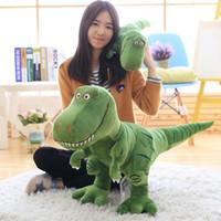 hobi hediyeleri toptan satış-Yeni gelmesi Dinozor peluş oyuncaklar hobiler karikatür Tyrannosaurus için doldurulmuş oyuncak bebek çocuk erkek bebek Doğum Günü Noel hediyesi