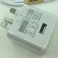 ingrosso pin dock-spina UK 3 in 1 9V 1.67A 5V 2A viaggio Power Adapter Dock 3 pin Piedi Metallo corsa della parete Caricabatterie per il Samsung