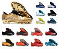 calçados homens tamanho 6,5 venda por atacado-Venda quente Hypervenom Fantasma III DF FG 3 sapatos Segredo ação de futebol chuteiras Mens Low tornozelo Authentic Botas de futebol Tamanho US 6,5-11