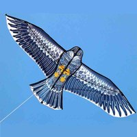 Wholesale toy eagle flying resale online - 180cm Large Eagle Kite With Kite Hand line Flying Kites Outdoor Toy For Fun Children Gift Very Good Quality