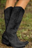 botas occidentales de calidad al por mayor-Bota de vaquero de lujo nueva Australia Martin botas de cuero de las mujeres de la buena calidad más barato de las mujeres de moda trabajo Botas occidental del tamaño grande US12