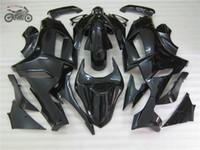 kawasaki ninja için fairing kitleri toptan satış-Kawasaki Ninja 2007 2008 ZX6R ZX6R 636 07-08 6R 07 08 Siyah tam set kaporta kitleri için Motosiklet grenaj parçaları
