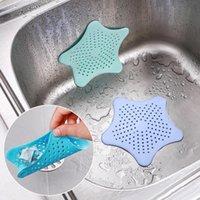 aparatos de sala al por mayor-Gadgets de cocina Accesorios estrella de mar gel de sílice Filtro colador Ducha colador baño ducha anti bloking envío gratis