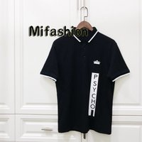 Wholesale white casual high waisted shorts resale online - 2019 Europe Luxury Italy Hip Hop Print Crown Psycho Tee High Quality Skateboard Cool T shirt Men Women Clothes Cotton Casual Polos