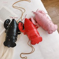 Wholesale cartoon 3d shoulder messenger bag for sale - Group buy Lobster Shoulder Bag Brand Design Mini Women Handbag D Cartoon Animal Shape Crossbody Bags Fashion Messenger Bag