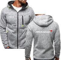 araba hoodies toptan satış-McLaren hoodie Araba Logosu Baskılı Bahar hoodies Sonbahar Ceket Hırka Kazak Polar hoodie Erkekler Hoodies Fermuar Hoodie Erkek Hoody Kazak