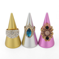 Wholesale trade jewelry for sale - Group buy Jewelry Finger Ring Displays Cone Shaped Holder Rings Stand for Exhibiting Precious Rings in Boutique Stall Trade Show
