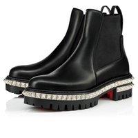 botines de pinchos con tachuelas al por mayor-diseñador de moda de lujo de la bota río tobillo de las mujeres con actitud Moda pyramidial picos Zapatos de las muchachas de arranque del partido salpicada de invierno L14