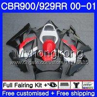 honda cbr 929 rr fairing siyah toptan satış-HONDA CBR900 RR CBR 929 RR CBR için gövde 900RR CBR929RR 00 01 279HM.12