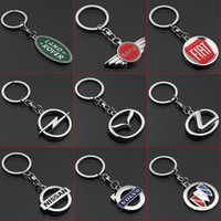 Wholesale autos ferrari for sale - Group buy 2 Pieces D Car Logo Keyring Keychain Auto Key Ring Key Chain Holder Keyfob For BMW Lamborghini Ferrari Volvo Fiat Car Styling Accessories