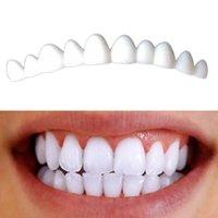 fijación de dientes al por mayor-1 Caja 2Pcs carillas dentales para dientes carillas sonrisa falsas chapas desmontables en diente de los dientes Fix Kit de Color Natural