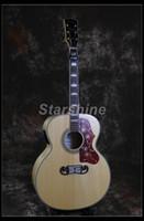silla de montar guitarra al por mayor-Starshine Guitarra Acústica Eléctrica ZZ-DJ20 Jumbo Body 43 Forma Grover D Guitar Bone Nut Y Silla