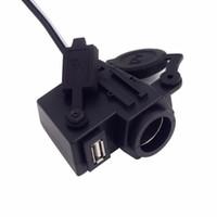 ingrosso porte per sigarette motociclistiche-Nuova presa per presa di alimentazione integrata per l'accendisigari USB per moto