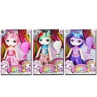 куклы оптовых-Unicorn Dolls Bundle с аксессуарами Kawaii Новизна Куклы для девочек Детские игрушки 6-дюймовый 15см 3 цвета 240шт