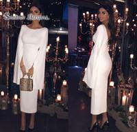 indisches modekleid großhandel-2020 bescheidenen saudi-arabischen langen Ärmeln Tee Länge Mutter Kleid Mantel formale indische Kleidung nach Maß Plus Size Party Abendkleider