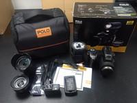 telefoto dijital kameralar toptan satış-PROTAX D7100 Dijital Kamera 33MP FHD DSLR Yarım Profesyonel 24x Telefoto Geniş Açı Lens setleri 8X Dijital zoom Kameralar Odak