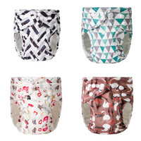 Wholesale newborn baby diapers resale online - Newborn Baby Cloth Diapers Style Cartoon Dinosaur Car Diapers Pants Infant Toddler Washable Adjustable Nappy Pants Reusable T