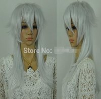 Wholesale white anime wig for sale - Group buy white heat resistant cosplay anime animation unisex medium wigs wig hot new vogue