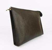 sutyen çantaları siyah toptan satış-Tasarımcı Cüzdan mektup çiçek Kahve Siyah kafes erkek çanta kadın cüzdan Kozmetik çantası fermuar Tasarımcı Çanta çantalar 47542 KUTUSU ile Gel