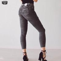 ingrosso offrono pantaloni-3018 Jeans da donna Jeans Jeans offrono nuovi jeans primaverili da donna a nove buche pantaloni coreani speciali
