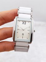 homens relógio bracelete de aço quadrado venda por atacado-Moda casual 37mm homens relógios de quartzo geometria quadrado branco pulseira de relógio pulseira de aço inoxidável relógios de luxo atacado