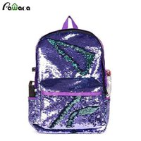 Wholesale unique girl backpacks for sale - Group buy Reversible Sequin Mermaid Backpacks For Girls Unique Glitter Shoulder Bag Causal Women School Knapsack Y19051502