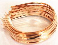 ouro diadema diy venda por atacado-5 pcs 3mm headbands faixa de cabelo de metal em branco lotes diy acessórios black gold silver
