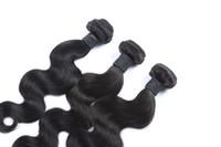 en iyi saç paketleri toptan satış-En Çok Satan Siyah Renk Hint Vücut Dalga Saç Dokuma% 100% İnsan Saç Dokuma Paketler Çift Atkı Saç Uzantıları 10-30 Inç
