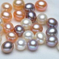 48 Pairs Womens 7-8mm Button Half Drilling Pearls Beads Earrings Jewelry Making