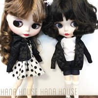 2pcs 1//6 White Overalls+Pink T-shirt for 12inch Neo Blythe Doll Outfit Clothes