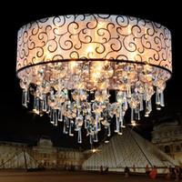 plafones dormitorio vintage al por mayor-Moderno Luces de Techo de Cristal vintage llevó Lámparas de Techo de Cristal Para la Sala de estar Dormitorio luminarias para sala plafon chandelier