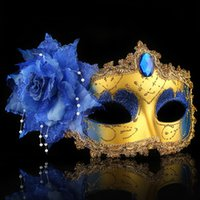 Wholesale black half masks for sale - Group buy 2019 Masquerade Feather Sexy Venetian Mask Women For Face Multi Color Princess Mask Sexy Half Hallowmas Feather Masks Decor A