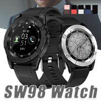новые умные часы оптовых-Новые Смарт Часы SW98 Bluetooth Смарт Часы HD Экран Двигателя Smartwatch С Шагомер Камера Микрофон Для Android IOS PK DZ09 U8 В Коробке