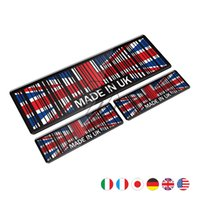 Wholesale japan stickers car online - 3D Union Jack Sticker Made In France Japan USA UK Italy Germany Motorcycle Tank Pad Decal Universal for MOTO Car Tail Stickers