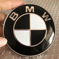 araba davlumbazları toptan satış-74mm Siyah Hood Trunk Amblem Rozet Araba Sticker Değiştirme BMW 528i 535i 740i 750i X4 c / w 2 pins ile